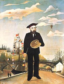Moi-même, Portrait-paysage (Autoportrait) de Rousseau, 1890, Prague, Galerie nationale