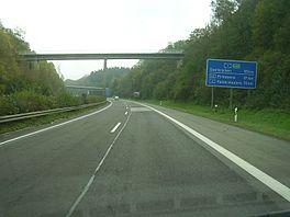La E422 entre Trèves et Sarrebruck