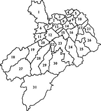 civil parishes of Roxburghshire c 1930