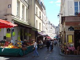 La partie commerçante de la rue Mouffetard