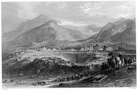 Ruines de Laodicée (Gravure de William Miller 1842 - 1847)