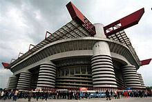 An external view of the San Siro stadium
