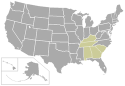 Southern Intercollegiate Athletic Conference locations