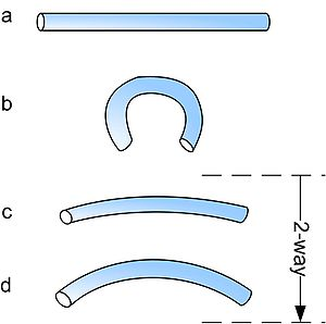 Two-way intrinsic shape memory