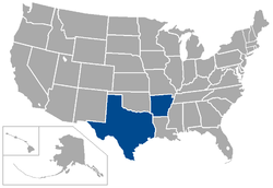 Southwest Conference locations