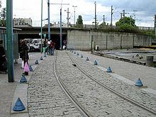 L'extrémité ouest de la ligne en 2008 à la gare de Saint-Denis, avant son prolongement vers Asnières - Gennevilliers.