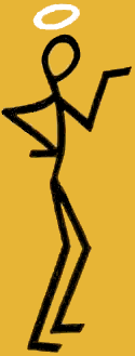 The sign of The Saint, which appears on virtually every edition of every Simon Templar adventure.
