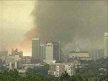 The Salt Lake City Tornado of 1999 rips through downtown