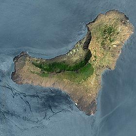 Image satellite d'El Hierro.