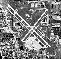 Aerial shot of Sarasota-Bradenton International Airport