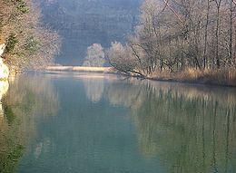 La Sarine aux abords du lac de Pérolles à Fribourg.