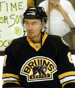 Miroslav Šatan avec les Bruins de Boston