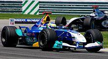 Photo de Giancarlo Fisichella pilotant une Sauber C23 au Grand Prix des États-Unis 2004.
