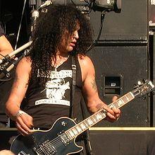 Slash on stage in Nijmegen, the Netherlands, 2005