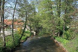 La Lauter entre Scheibenhardt (Palatinat) et Scheibenhard (Alsace)