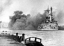 Schleswig Holstein firing Gdynia 13.09.1939.jpg
