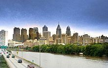 Vue de Philadelphie.