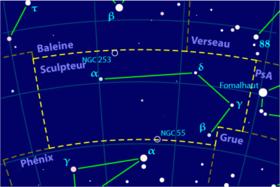 Image illustrative de l'article Sculpteur (constellation)