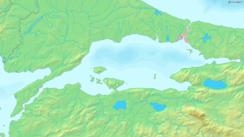 Mapa del mar de Marmara.