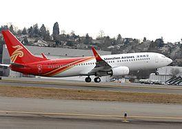 Een Boeing 737-800 van Shenzhen Airlines
