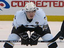 Photo de Sidney Crosby dans la tenue des Penguins.