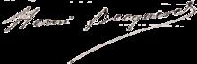 Signature de Henri Becquerel