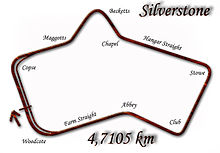 Silverstone Circuit in 1952–1973 configuration