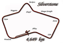 Silverstone Circuit in 1949–1950 configuration