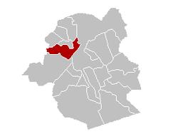 Situation de la commune au sein de la Région de Bruxelles-Capitale
