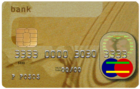 Graphic of a made-up credit card