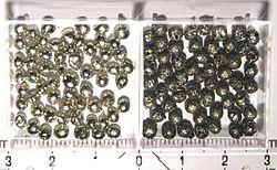Alpha- and beta-tin, two allotropes of tin