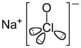Structure de l'hypochlorite de sodium