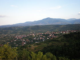 Le village de Sopichté et le mont Vodno