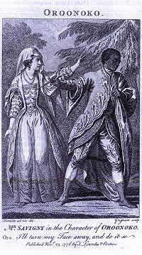 Illustration of a 1776 performance of Oroonoko.