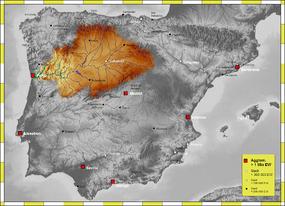 Localización del Tormes en la cuenca del Duero