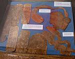 Replicas of copper pieces found at the Spiro site