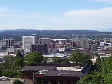 Photographie prise en hauteur de Spokane
