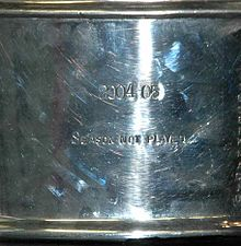 "The Stanley Cup acknowledges the canceled 2004–05 season with the words, ""2004–05 Season Not Played"""