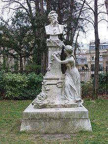 Statue d'Ed. Pailleron, Paris Parc Monceau