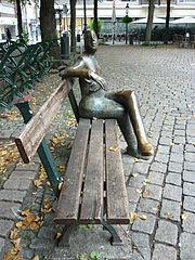 Standbeeld in Munsterplein