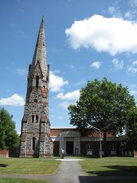 Stearns Steeple and Mead Art Building, Amherst College, Amherst MA.jpg