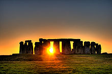 Stonehenge au soleil couchant