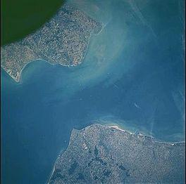 Satellietfoto Nauw van Calais