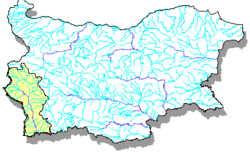 Localización del río Vit (mapa de ríos de Bulgaria)