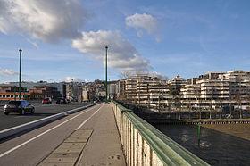 Vue de Suresnes depuis le Pont de Suresnes