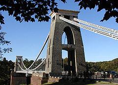 Clifton Suspension Bridge in Bristol, UK (1864)