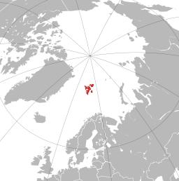 Poloha Svalbardu