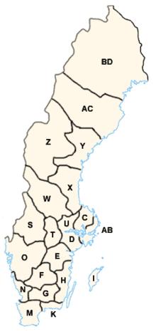 Comitatele Suediei