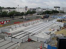 La future station Gare de Gennevilliers, en cours de construction en juillet 2010.