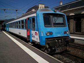 X 4750 en gare de Saint-Dié-des-Vosges.